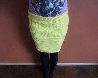 Crochet pencil skirt.