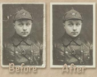 Professional Digital photo restoration and photo repair