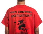 Guncontrol Hold It Aim It Fire It Man w/ Pistol & Ar-15 T Shirt