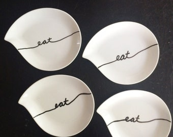 Eat appetizer plates - set of 4