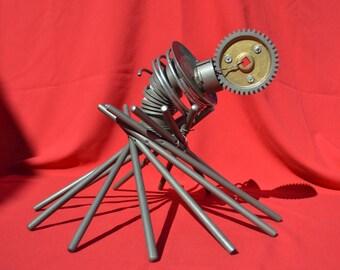 Tilt-A-Gear (Found Art Sculpture)