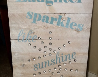 Hand crafted large reclaimed wood sign