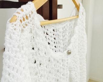 white crochet tops