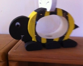 Buzzy Bee wooden piggy bank