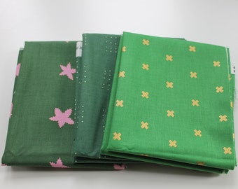 Cotton and steel fat quarter cloth package