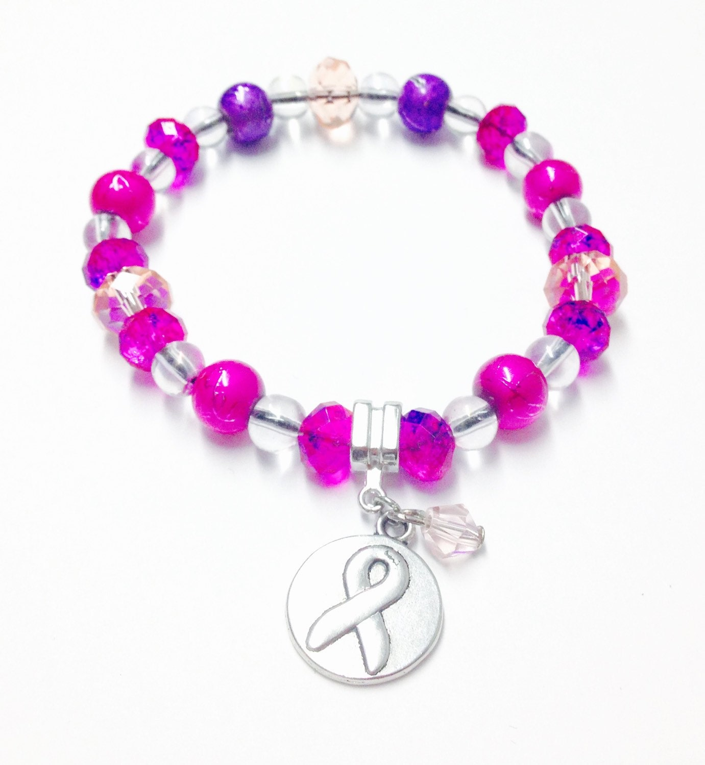 Breast Cancer Support Bracelet Pink Bracelet Breast Cancer