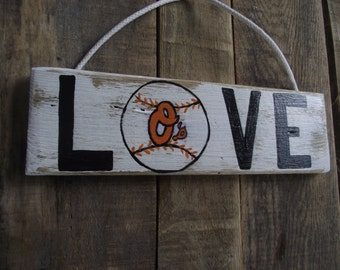 Baltimore Orioles hand-painted sign | Orioles sign | Baltimore Orioles wall decor | Baltimore Orioles pallet sign | Baseball  sign