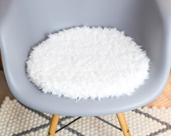 Chair cushions in white suitable for Eames Chair, limited