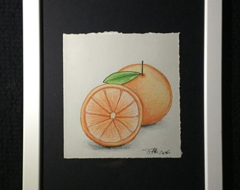 Mini Drawing #9 - Orange