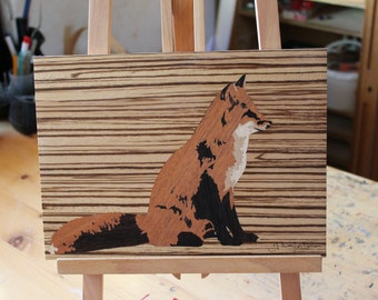 The Fox - art marquetry