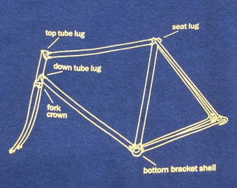 Bicycle T Shirt Frame Description Lugged