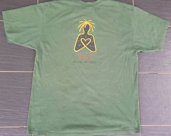 Vtg YAGA One Love One People Irie Productz USA Reggae T-Shirt Made In Usa