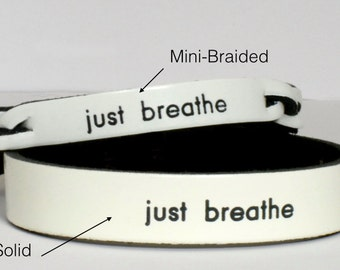 Just Breathe Bracelet - Lung Cancer Awareness