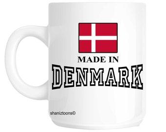 Made Born In Denmark Birthday Gift Mug shan599