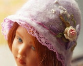 """Lilac hat for doll Bratz, Tree Change Dolls, Moxie Teenz and doll Mary Kate Helen Kish """"Children of Yesteryear"""""""