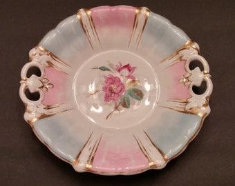 Antique C. Tielsch Altwasser Germany Handled Cake Plate circa 1900-1910