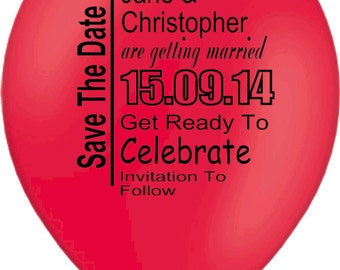 Save The Date Personalised Balloons