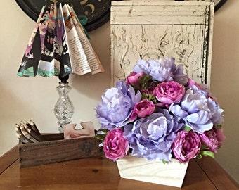 Pine Box Flower Arrangement