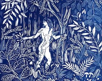 Original linocut 'Daphne'- limited edition