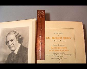 Dard Hunter Rose Hammered Copper Bookmark