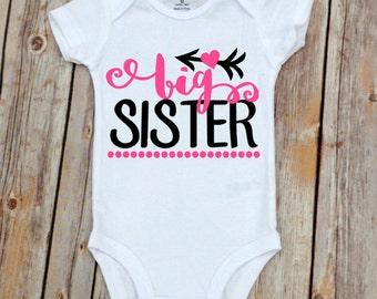 Big Sister Onesie, Big Sister Shirt, Big Sister Outfit, Big Sister, Pregnancy Announcement, Sister Shirt, Pregnancy Announcement Shirt