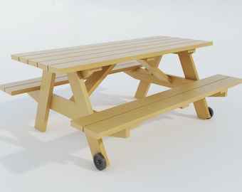 build your own picnic table  diy plans  fun to build  build your own futon diy plans fun to build save money  rh   etsy