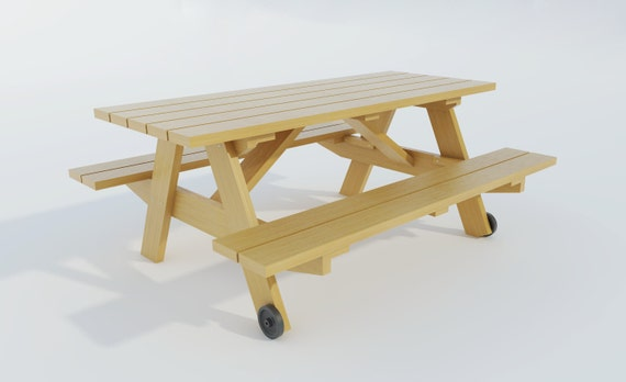 Build your own Picnic table (DIY Plans) Fun to build!!