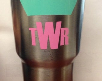 Customized Crown Initial Decal