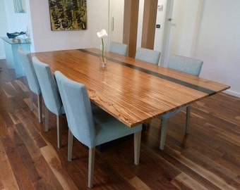 8 Seater Zebrano Dining Table