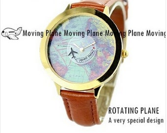 Exclusive Design watch with rotating plane