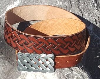 Handmade Celtic Knot Artisan Kilt Belt