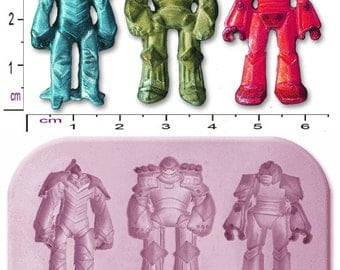 TRANSFORMERS ROBOTS x 3 Small Craft Sugarcraft Soap Fimo Mould