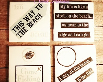 Beach Nautical Theme Coasters Seaside Resort Decor