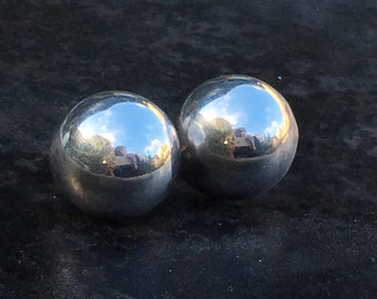 Sterling dome earrings. Simple modern chic
