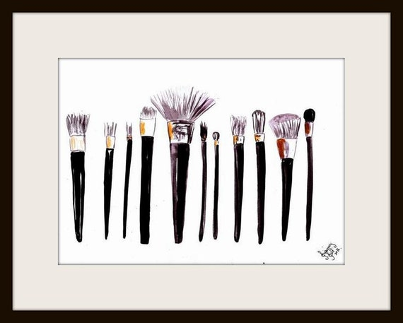 Makeup Brushes Printable Wall Art Decor By Sweepinggirlsays