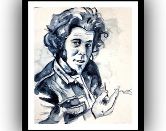 Tom Waits Watercolor Print