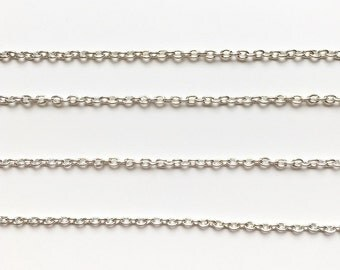Silver or gold chain 3x2mm (1 metre)