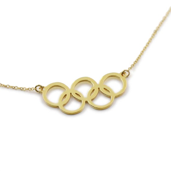 2016 Rio Olympic Games-Custom Olympic 5 Ring Necklace-Summer