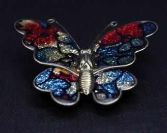 Vintage colourful brooch