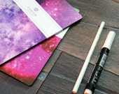 140 Cosmic dust sketchbook, space stars notebook, 60 black pages journal, gift for artist