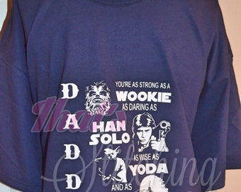 Daddy Galaxy T-shirt - Father's Day!! size small through XL - last day for fathers day orders is 5/24 star wars inspired