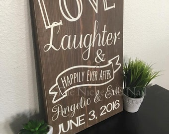 Wedding Sign, Rustic Wedding Sign, Personalized Home Decor