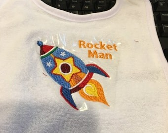 Rocket Man Bib
