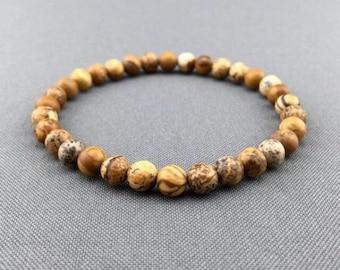 Picture Jasper bracelet,jasper bracelet,bohemian bracelet,mala jasper bracelet,mala for man bracelet,yoga bracelet,bohemian bracelet,gemston