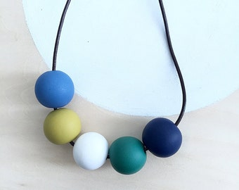 polymer clay necklace | polymer clay jewelry | beaded necklace | statement necklace | clay jewelry | colorful necklace | unique gift for her