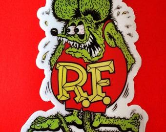 """Rat Fink! Sticker 4"""""""