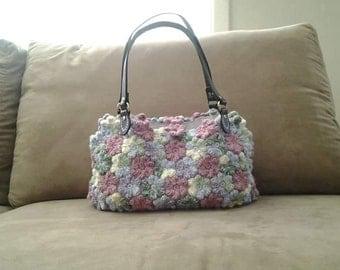 Crochet Flower Hand Bag