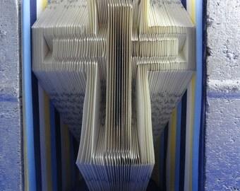 Origami Book Folding Pattern DIY Cross 247 Folds with Free Heart Pattern