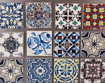 Tiles and Coasters in Photography - Portuguese Ceramic Magnets