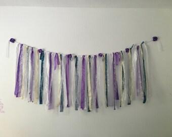 Custom Fabric garland. Wedding backdrop garland. Nursery garland.